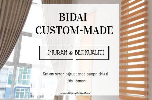 bidai custom-made yang murah & berkualiti pilihan wanita moden